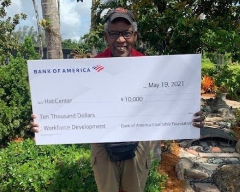 The Habilitation Center (HabCenter) recently received a $10,000 grant from Bank of America.